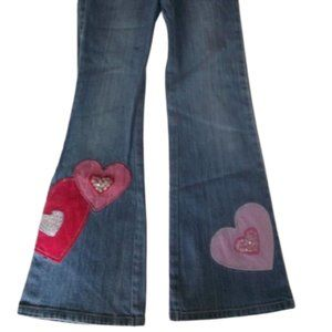 Vintage Gap Flared Jeans w Hearts Girl Size 8